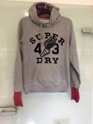 Superdry Jogging Sweater Pullover Hoodie  grau Gr. M