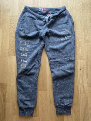 Superdry Sweat Pants grey-gold-colored