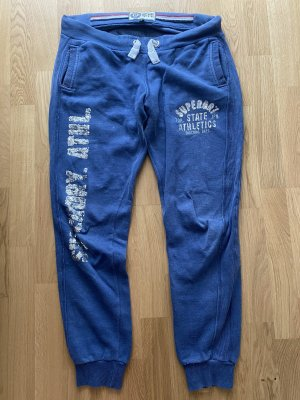 Superdry Sweat Pants silver-colored-steel blue