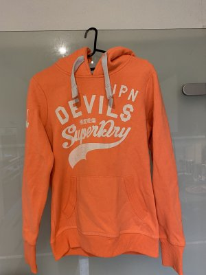 Superdry Kapuzen Pullover Hoodie Sweater orange Gr. M