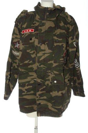 Superdry Kapuzenjacke khaki-braun Camouflagemuster Casual-Look