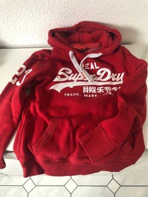 Superdry Maglione con cappuccio rosso-bianco