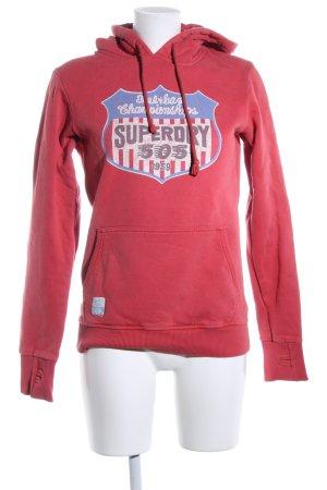 Superdry Jersey con capucha rojo-azul estilo deportivo
