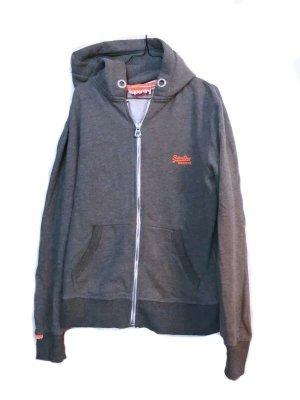 Superdry Maglione con cappuccio grigio-arancione