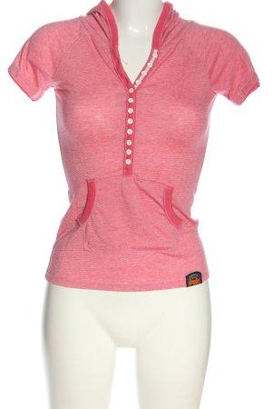 Superdry Koszulka z kapturem różowy Melanżowy W stylu casual