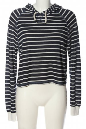 Superdry Hooded Shirt blue-natural white striped pattern casual look