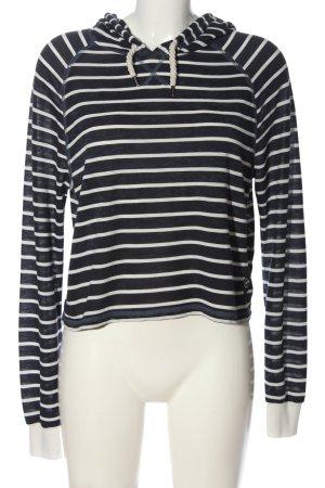 Superdry Top à capuche bleu-blanc cassé motif rayé style décontracté
