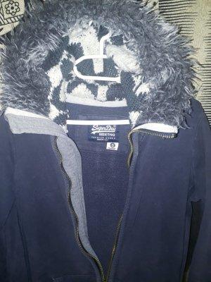 Superdry Sweatjack staalblauw-korenblauw