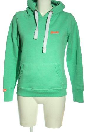 Superdry Kapuzensweatshirt grün Casual-Look