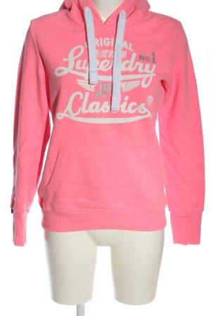 Superdry Kapuzensweatshirt pink meliert Casual-Look