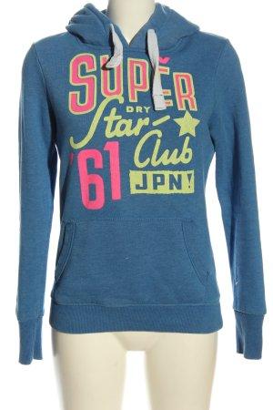 Superdry Hooded Sweatshirt printed lettering casual look