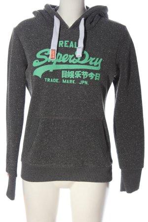 Superdry Kapuzensweatshirt hellgrau-grün meliert Casual-Look