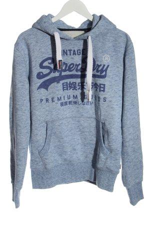 Superdry Kapuzensweatshirt blau meliert Casual-Look
