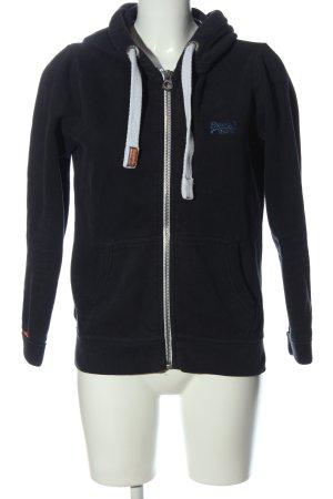Superdry Hooded Sweatshirt black athletic style