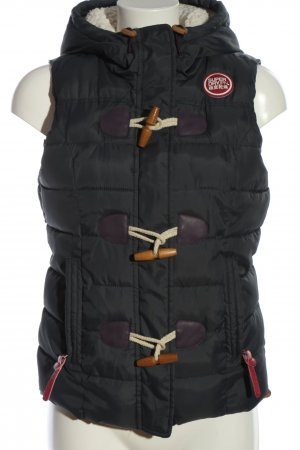 Superdry Hooded Vest black quilting pattern casual look