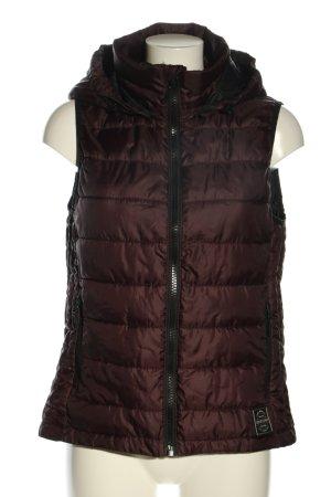 Superdry Capuchon vest bruin quilten patroon casual uitstraling