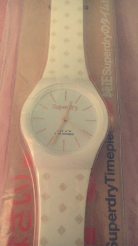 Superdry Watch With Leather Strap white-rose-gold-coloured