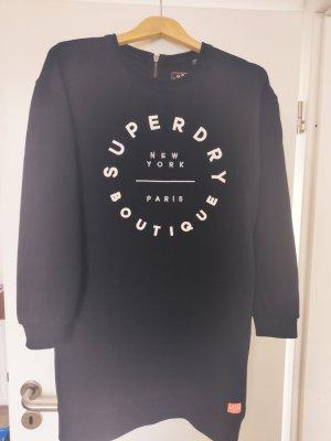 SUPER DRY Vestido de tela de sudadera negro