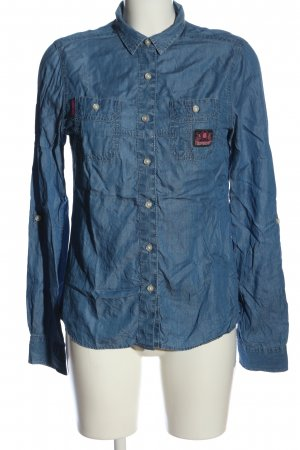 Superdry Kurzarmhemd blau Casual-Look