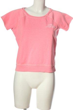 Superdry Kurzarmpullover pink Casual-Look