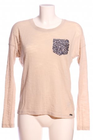 Superdry Strickpullover creme meliert Casual-Look