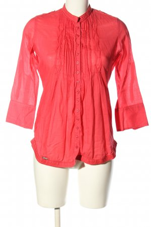 Superdry Langarm-Bluse rot Casual-Look