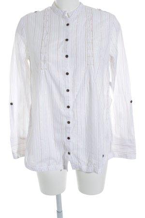 Superdry Langarm-Bluse weiß Streifenmuster