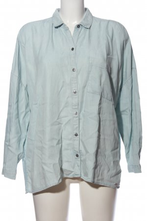 Superdry Langarmhemd blau Casual-Look
