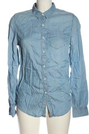 Superdry Langarmhemd blau Casual-Look