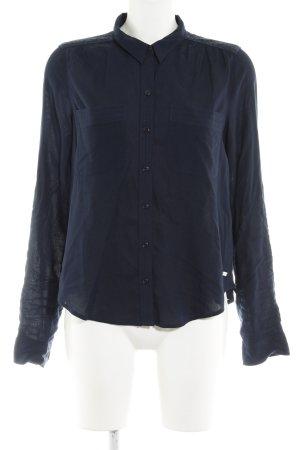 Superdry Langarmhemd dunkelblau Casual-Look