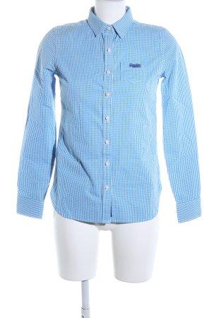 Superdry Langarmhemd blau Karomuster Casual-Look