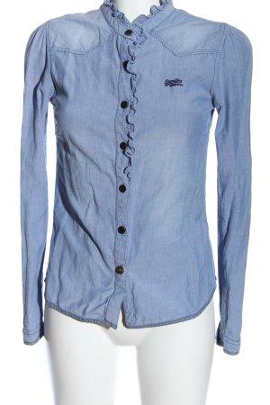 Superdry Camicia a maniche lunghe blu stile casual