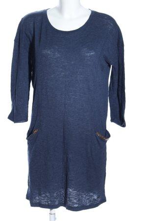 Superdry Langarmkleid blau meliert Casual-Look