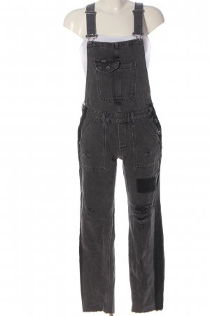 Superdry Salopette en jeans gris clair style décontracté