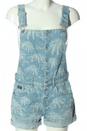 Superdry Bib Shorts blue-natural white allover print casual look