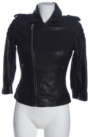 Superdry Giacca in pelle nero stile casual