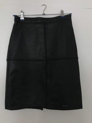 Superdry Leather Skirt black