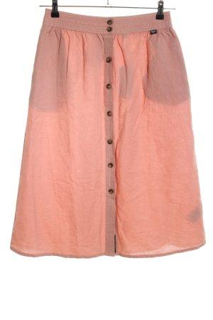 Superdry Falda de lino rojo look casual