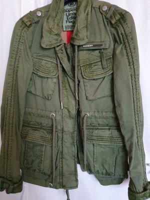 Superdry limited Edition Field Jacke Übergangsjacke khaki grün Gr L