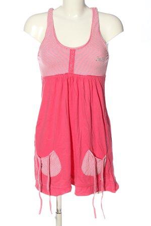 Superdry Longtop pink-weiß Streifenmuster Casual-Look