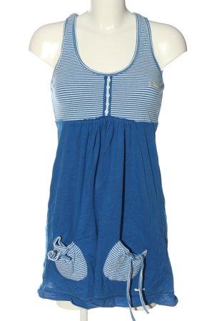 Superdry Longtop blau-weiß Streifenmuster Casual-Look