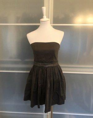 Superdry Luxe Kleid Abschlussball Konfirmation Grau M Pailetten Mini