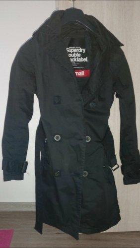 Superdry Trenchcoat zwart