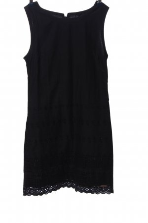 Superdry Minikleid schwarz grafisches Muster Casual-Look
