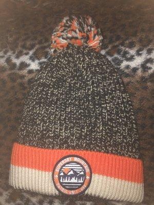 Superdry Cappello a maglia blu scuro-arancione