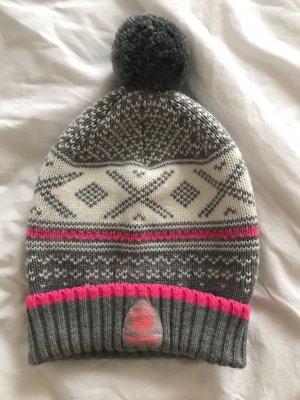 Superdry Cappello a maglia multicolore