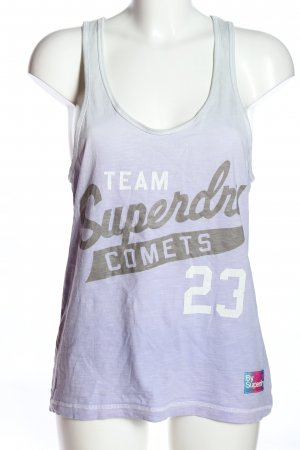 Superdry Muscleshirt gedrukte letters casual uitstraling