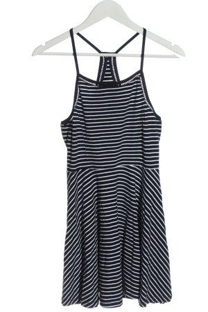 Superdry Robe dos-nu noir-blanc motif rayé style décontracté