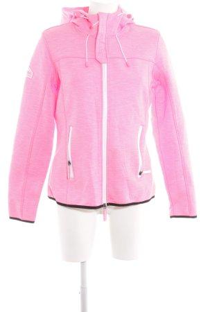 Superdry Outdoorjacke pink-schwarz Allover-Druck Casual-Look