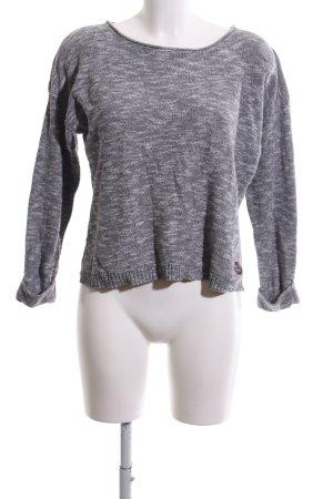 Superdry Oversized Pullover hellgrau-weiß meliert Casual-Look
